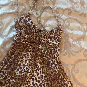 Leopard pattern,exquisite dress